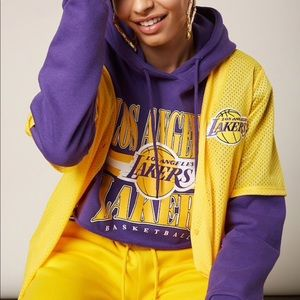 NWT S Forever 21 LA Lakers Cropped Hoodie